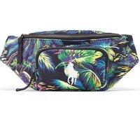RALPH LAUREN 拉尔夫·劳伦 男士帆布植物花卉图案拉链腰包MAPOBGS03520034 多色