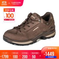LOWA 德国 徒步鞋作战靴户外防水登山鞋 RENEGADE GTX 进口男款低帮 L310963 咖啡色/米黄色 42