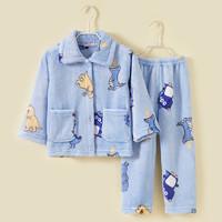果贝猴 儿童珊瑚绒家居服套装 随机花色