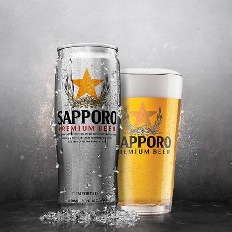 Sapporo/三宝乐 日本札幌啤酒 650ML*6罐