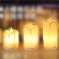 微蜡工坊 电子蜡烛 小蜡烛灯头款 三件套