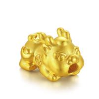 TSL 谢瑞麟 YQ719 貔貅转运珠宝宝3D足金吊坠 1.05g