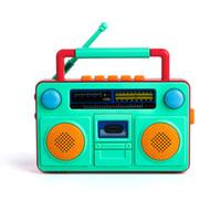KIDNOAM 儿童萌趣复古收音机玩具 颜色随机