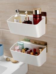 浴室免打孔收纳架厕所洗手台壁挂洗手间收纳盒卫生间洗漱台置物架