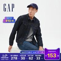 预售Gap男装深色休闲牛仔夹克秋冬212743 E 帅气时尚型男外套潮