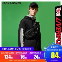 JackJones杰克琼斯男足球俱乐部联名利物浦印花运动卫衣220133549