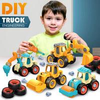 移动专享 : QZMTOY 拆装工程车 黄色1辆车送一把螺丝刀(小号)