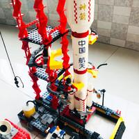有券的上:古迪 神舟十号小颗粒积木火箭模型拼装玩具 *2件