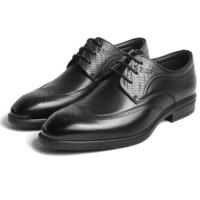 BeLLE 百丽 男士系带圆头平跟商务正装皮鞋6CC01CM9 黑色39