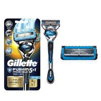吉列(GILLETTE) 锋隐5致护冰酷 5+1层刀头 手动剃须刀刮胡刀 1个刀架+2个刀头 蓝色 *2件