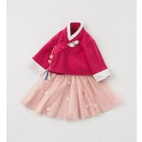 dave&bella 戴维贝拉 女童汉服裙2件套