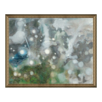 抽象油画《今夜星空》熊宁辉背景墙装饰画挂画 典雅栗(偏金色) 101×126cm