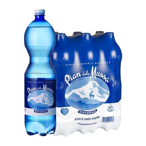 潘德拉 意大利阿尔卑斯山泉水1.5L*6瓶 泡茶饮用水整箱