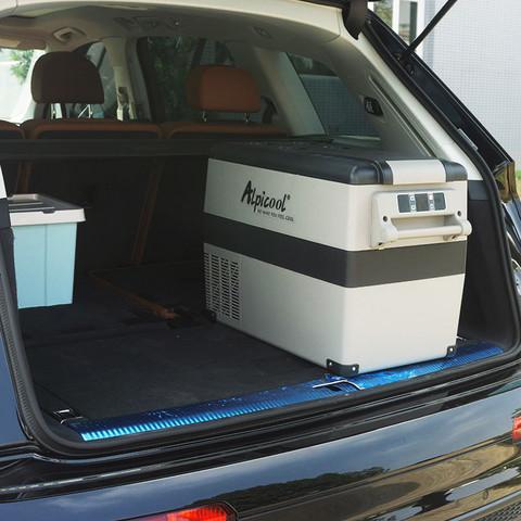 冰虎车载冰箱压缩机制冷12V汽车24V货车家两用冷藏冷冻分区小冰箱 *2件