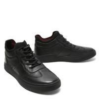 BeLLE 百丽 男士系带圆头平跟休闲鞋B9959DD9 黑色38
