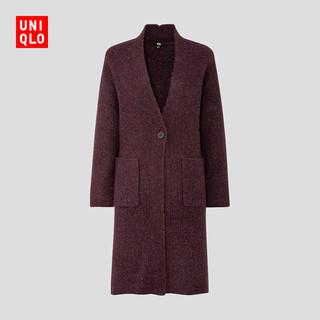限尺码 : UNIQLO 优衣库 420514 女士羊毛混纺大衣