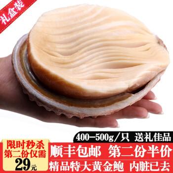 南非黄金鲍 特大带壳螺肉 400-500g 1只  口感鲜如鲍鱼 *11件