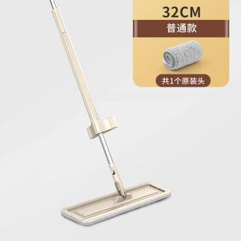 画极(HUAJI)免手洗平板拖把家用木地板一拖神器懒人拖布干湿两用地拖托大号净 普通款共1个原装头无