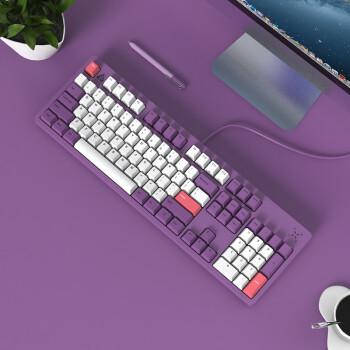 FirstBlood B27 菖蒲紫 机械键盘 104键 樱桃红轴