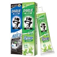 DARLIE 黑人 超白竹炭茶倍健牙膏 140g*2支