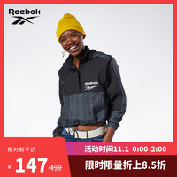Reebok锐步官方运动经典CL V HALF ZIP女子长袖卫衣EB5104