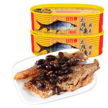 限地区:广东 甘竹牌 鱼罐头 精装豆豉鲮鱼227g*2罐 *4件