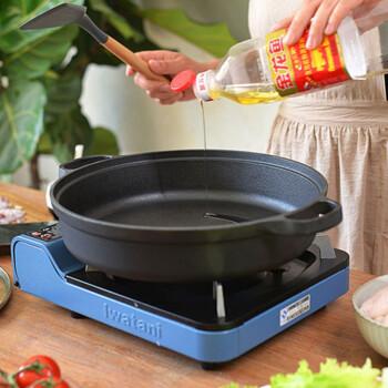 盛匠 平底煎锅 传统双耳铸铁加厚生铁锅烙饼锅不粘无涂层