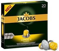 Jacobs Lungo Leggero 咖啡胶囊,浓度4/12,200个Nespresso兼容胶囊,10 x 20杯
