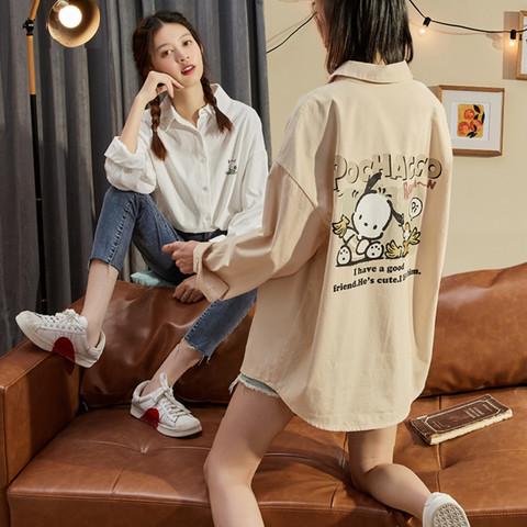 唐狮2020年秋装新款衬衫女士白色外穿百搭衬衣设计感小众洋气上衣 *4件
