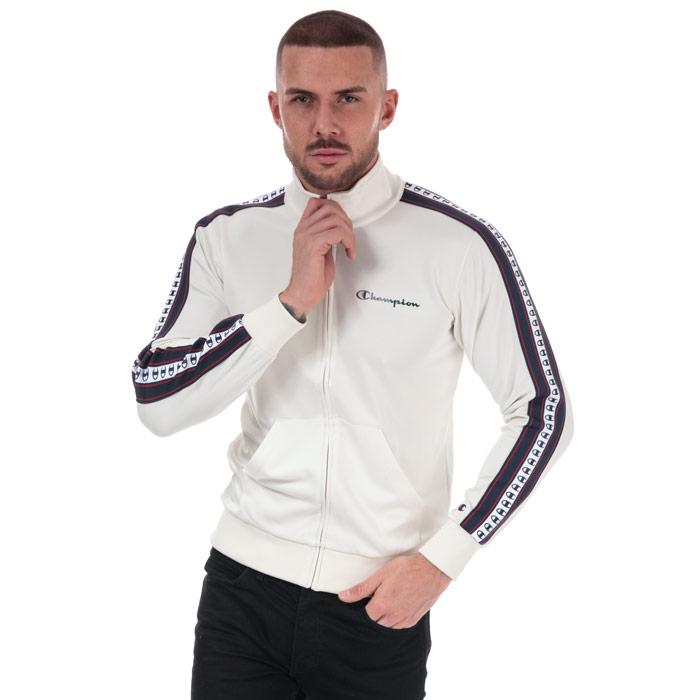 银联返现购:Champion 冠军 男士 白色拉链运动外套