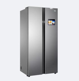 Haier 海尔 全空间保鲜飨宴系列 BCD-610WDIEU1 变频风冷对开门冰箱 610L 耀世银