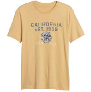 Gap 盖璞 男士纯棉圆领印花短袖休闲T恤521002