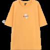 HSTYLE 韩都衣舍 女士纯棉圆领短袖T恤DU9600 黄色XS