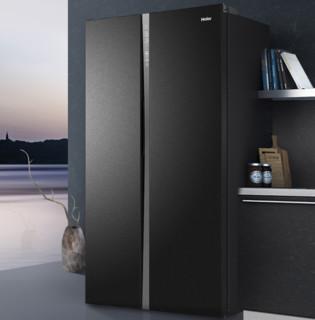 Haier 海尔 SPACE+系列 BCD-651WLHSS6ED9 变频对开门冰箱 651L 遂空黑