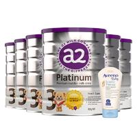 A2 艾尔 白金版 婴幼儿配方奶粉 3段 900g 6罐 + Aveeno润肤霜141g