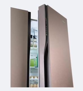 Haier 海尔 全空间保鲜飨宴系列 BCD-615WDCZ 变频对开门冰箱 615L 卡其金