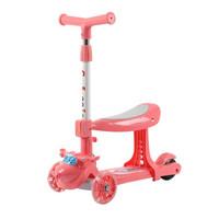 春野樱 键折叠卡通儿童滑板车 标配闪光轮+座椅-粉色