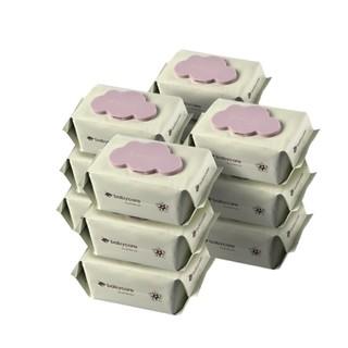 京东PLUS会员 : BabyCare 6480 婴儿手口湿巾  紫盖80抽-12包