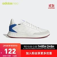 阿迪达斯官网 adidas neoNETPOINT男子休闲运动鞋EE9812 EG6493 白/白/蓝/EE9812 41(255mm)
