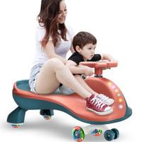 活石儿童扭扭车1-3岁防侧翻溜溜车(静音闪光轮+儿歌功能+牵引绳)