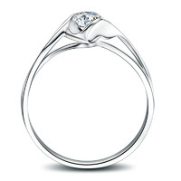 50分钻戒正品1克拉PT950铂金钻石戒指女20求婚40白金30一天使之吻