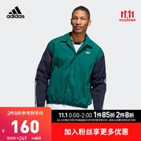 adidas 阿迪达斯 ED5516 男款翻领单排扣长袖外套