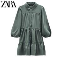 ZARA 新款 TRF 女装 衬衣式连衣裙 07901908506