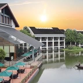 周末不加价!住进西溪湿地!杭州西溪宾馆溪墅亲水房1晚+含早+摇橹船体验+亲子项目套餐