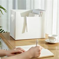 移动专享:桫椤  仿皮pp塑料多功能A4收纳盒  白色 2个装