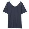 HSTYLE 韩都衣舍 女士纯色宽松V领短袖T恤NJ13701 蓝色S