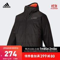阿迪达斯官网adidas XPLR PAD JKT男装冬季户外运动夹棉夹克外套GH3675 黑色 A/L(180/100A)