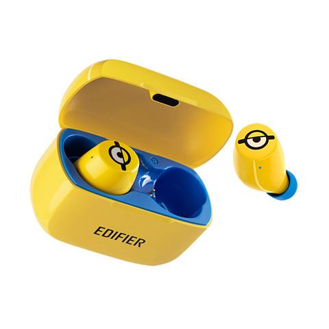 漫步者 W3小黄人真无线蓝牙入耳耳机运动跑步通话手机苹果耳机