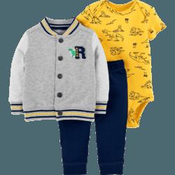 Carter's 男宝宝外套哈衣长裤套装 *3件