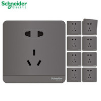 Schneider Electric 施耐德 灰色五孔插座 10只装